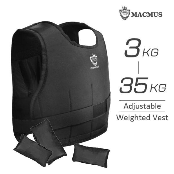 MACMUS_3-35kg_Adjustable Weighted Vest